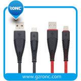 Haute qualité 5V/2D'une charge rapide de câble de données micro-USB pour Samsung iPhone