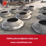 01-38 piccola estremità ellittica del piatto dell'acciaio inossidabile con il luogo di perforazione