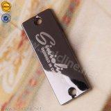 Sinicline kundenspezifische silberne Firmenzeichen-Entwurfs-Metallmarke mit Kreisraupe