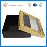 Caja de regalo de papel personalizados con una clara ventana de Pet (tapa y base caja).