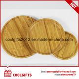 Высокое качество круглой пластины из бамбука деревянной пластине с помощью различных размеров