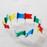Canton Fair 32mm Flag Colorful Plastic Head Thumb Tack