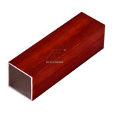 Armoire d'aluminium du grain du bois Meubles de taille personnalisée en aluminium carrées