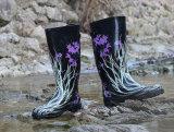 新しい方法さまざまな女性のゴム製雨靴、普及した様式の女性雨靴、Rubber安っぽさの女性雨靴、流行のゴム長