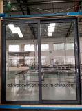 Serie 130 dell'alluminio di vetratura doppia che fa scorrere i portelli di vetratura doppia del patio con 3 rotaie da Woodwin Guangdong