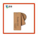 Hangtag de papel personalizado con lámina de oro para la ropa
