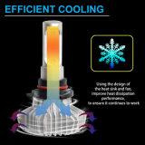 Brillante barato al por mayor 12V 50W 6000LM Fanless Auto faro H4 H7 LED automático de la Lámpara de faro