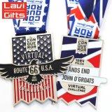 Newest Excellent Quantité Dernière Design de mode 3D Argent en résine époxy vieux placage Prix championnat USA médaille de métal