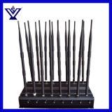 Plato ajustable Jammer celular 4G CDMA GPS GSM 3G WiFi Lojack433MHz, 315MHz, GPS, Wi-Fi, VHF, UHF Lojack Jammer (SYF-900)
