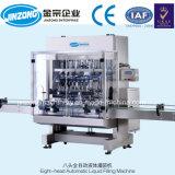 Jinzong vollautomatische Flaschen-füllender mit einer Kappe bedeckende und Etikettiermaschine-Oberflächenproduktionszweig für Shampoo/Flüssigkeit/Getränk
