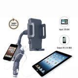 Supporto di plastica del telefono mobile di vendita del USB dell'automobile del caricatore del supporto doppio caldo della culla