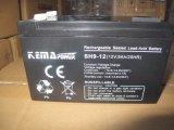 9AH 12VCC de l'AGA de la batterie rechargeable sans entretien pour le système solaire