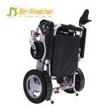 Tipo intelligente che piega la sedia a rotelle portatile di potere dell'aeroplano della sedia a rotelle elettrica con 2 batterie di litio