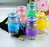 Farbige Wasser-Flasche für Kursteilnehmer-freie Glasflasche