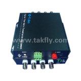 4チャネル1080P Ahd&Cvi&Tviのビデオファイバー伝達