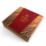 Il tipo di carta avanzato doppio di vibrazione imbottiglia la scatola di cartone piegante del regalo del liquore dell'imballaggio del vino dell'annata