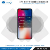 Super Rápido 15W Cargador de teléfono inalámbrico (cuatro bobinas) para el iPhone/Samsung o Nokia y Motorola/Sony/Huawei/Xiaomi (OEM/DOM)