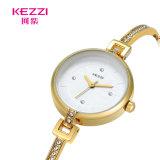 Polshorloges van de Armband van het Ontwerp van Kezzi de Eenvoudige met Diamant voor Dames