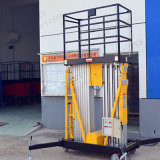 Elevatore doppio della piattaforma di lavoro aereo degli alberi della lega di alluminio (6m)