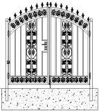 간결한 디자인 작풍에 있는 아름다운 장식적인 철 문