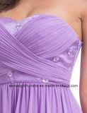 Elegante Hochzeits-Brautjunfer kleidet langes Chiffon- trägerloses Reich-Kleid