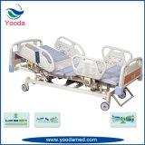 Faltbare Stahlfunktions-elektrisches medizinisches Bett der seitlichen Schienen-fünf