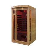 Madera maciza sauna de infrarrojos para 1 persona