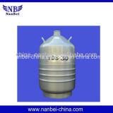 Portátil de 30 litros tanque de nitrógeno líquido para el semen de animales