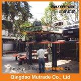 Elevatore idraulico di parcheggio dell'automobile di manutenzione dell'alberino doppio di funzione quattro del Ce