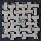 Tuiles de mosaïque de marbre de blanc chinois pour la décoration de mur