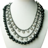 Perle e Crystal Necklace (N2747)