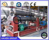 Machine de roulement symétrique mécanique de plat de 3 rouleaux W11-8X2000