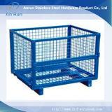 El apilamiento de almacenamiento de malla de alambre cesta