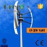 Gerador de turbina vertical pequeno do vento da linha central para o uso Home