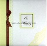 Álbum de álbum de recortes de papel de casamento com quadro e brilho