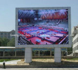 La publicité visuelle polychrome extérieure de P16 DEL