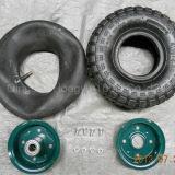 China-Plastikfelge für Schubkarre-Gummi-Räder