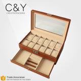 Cadre de mémoire en bois de luxe multifonctionnel fait sur commande de montre-bracelet de 12 fentes