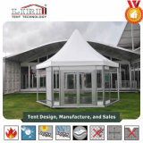 5X5m Luxury High Peak Waterproof Aluminium Gazebo Party Tent