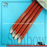 Luva resistente de alta temperatura do fio da fibra de vidro da borracha de silicone