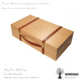Hongdao деревянный ящик с PU ручки
