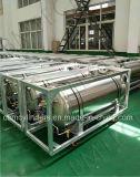 Lo2 lar criogénico Wheel-Type horizontal, cilindros de gas Lco2
