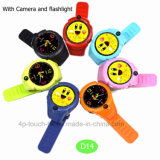 2017 enfants ronds GPS d'écran suivant la montre avec l'appareil-photo D14