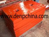 Shanbao PE400*600 판매를 위한 돌 턱 쇄석기 높은 Mn 강철 턱 격판덮개