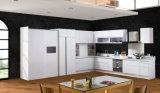 小さい台所単位の経済的なラッカー表面の現代食器棚(zz-018)
