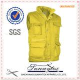 Les gilets Pocket multi de travail de coton d'OEM les plus de haute qualité de nouvelle conception de Sunnytex