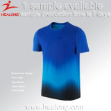 Healong O cou de Sublimation de Colorant Cheap Mens T-Shirt Design