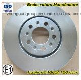 Rotors de frein de haute performance et de véhicule de prix concurrentiel de fabrication de Chinois avec le certificat de Ts16949 Andsgs