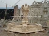 Fonte de água de mármore da senhora estátua de pedra natural (SY-F108)