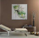 Vert fleur décorative sur la peinture d'huile